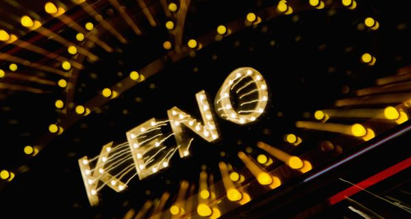 Keno neon sign in Las Vegas