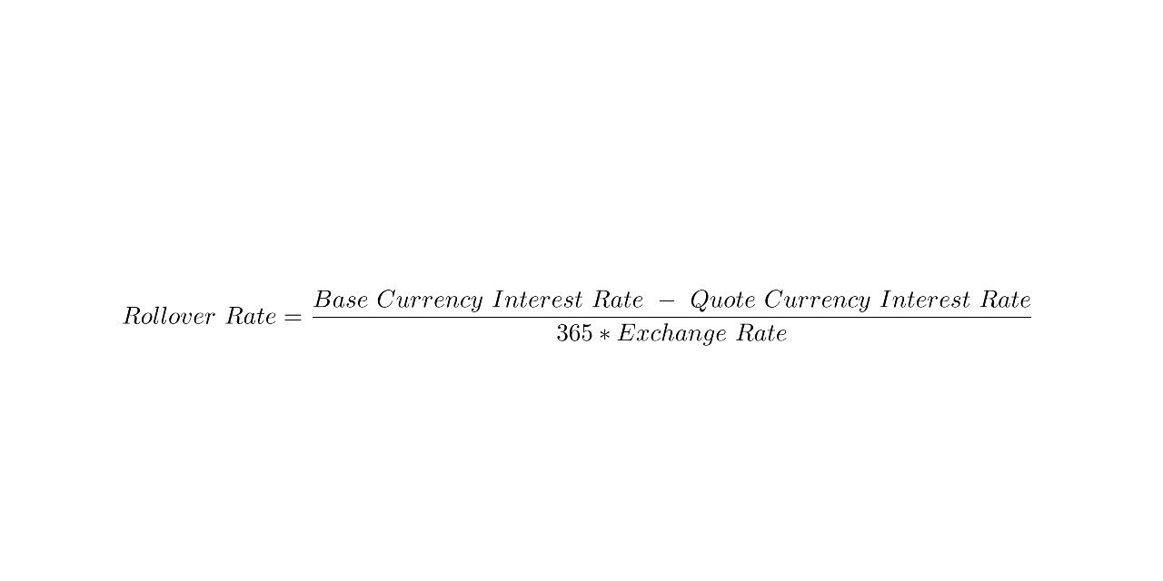 Rollover Rate Base Currency Interest Quote