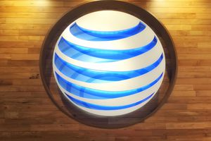 AT&T logo at Chicago store