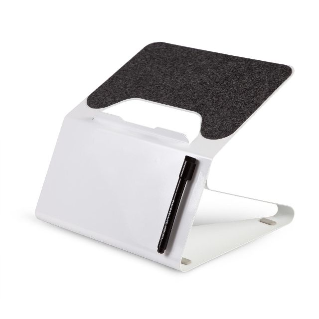 Fluidstance Lift Laptop Riser with Integrated Whiteboard