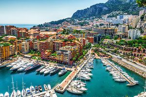 Aerial view of the city of Monaco.