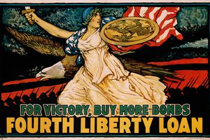 For Victory, Buy More Bonds - Fourth Liberty Loan Poster by J. Scott Williams