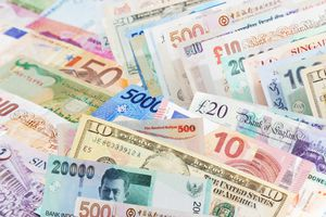 close up of different types of currencies