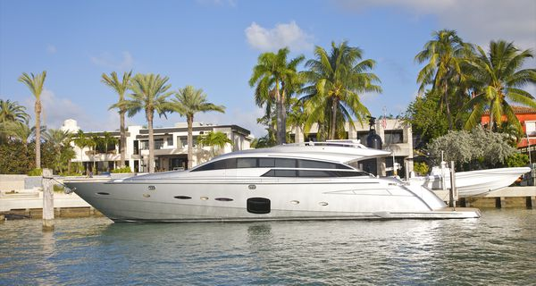 Yacht in Front of House