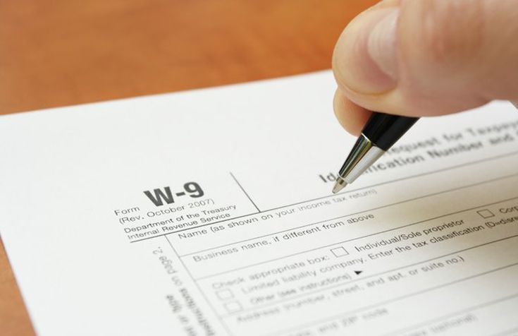 filling out the w-9 form