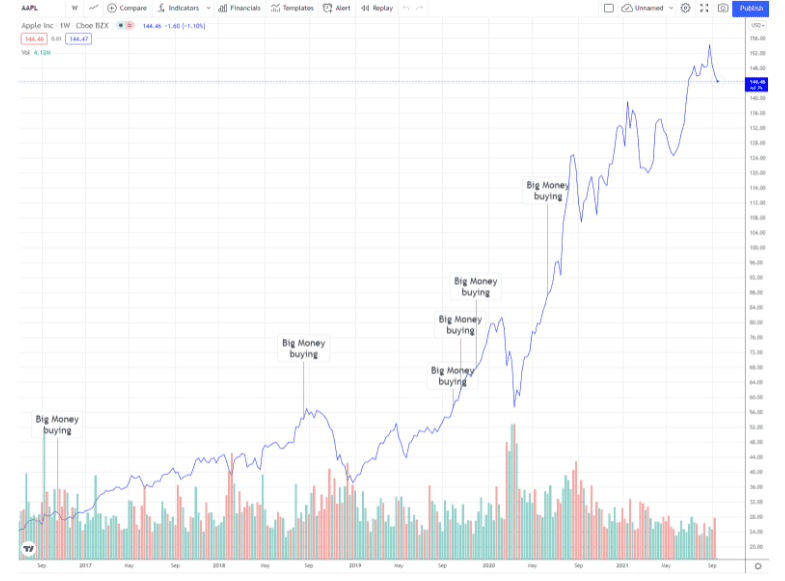 Apple Inc. (AAPL) share price development