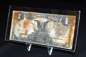 US Silver Certificate at Titanic Artifact Exhibit