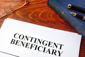 A document with title contingent beneficiary.