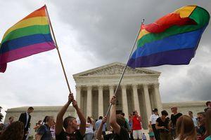 Rainbow flags at U.S. Supreme Court