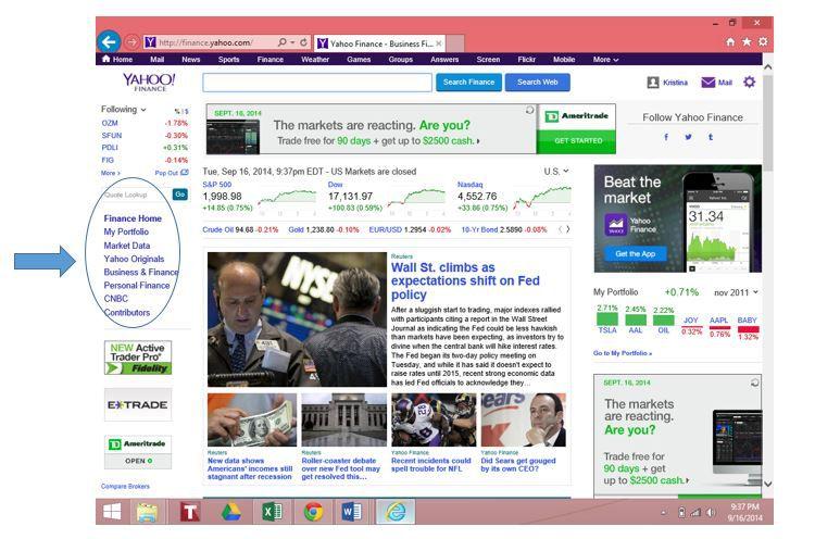 How to Use Yahoo! Finance