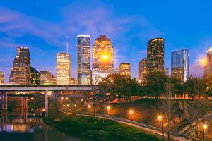 Skyline of Houston Texas at Dusk