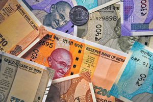Indian currency in various denominations