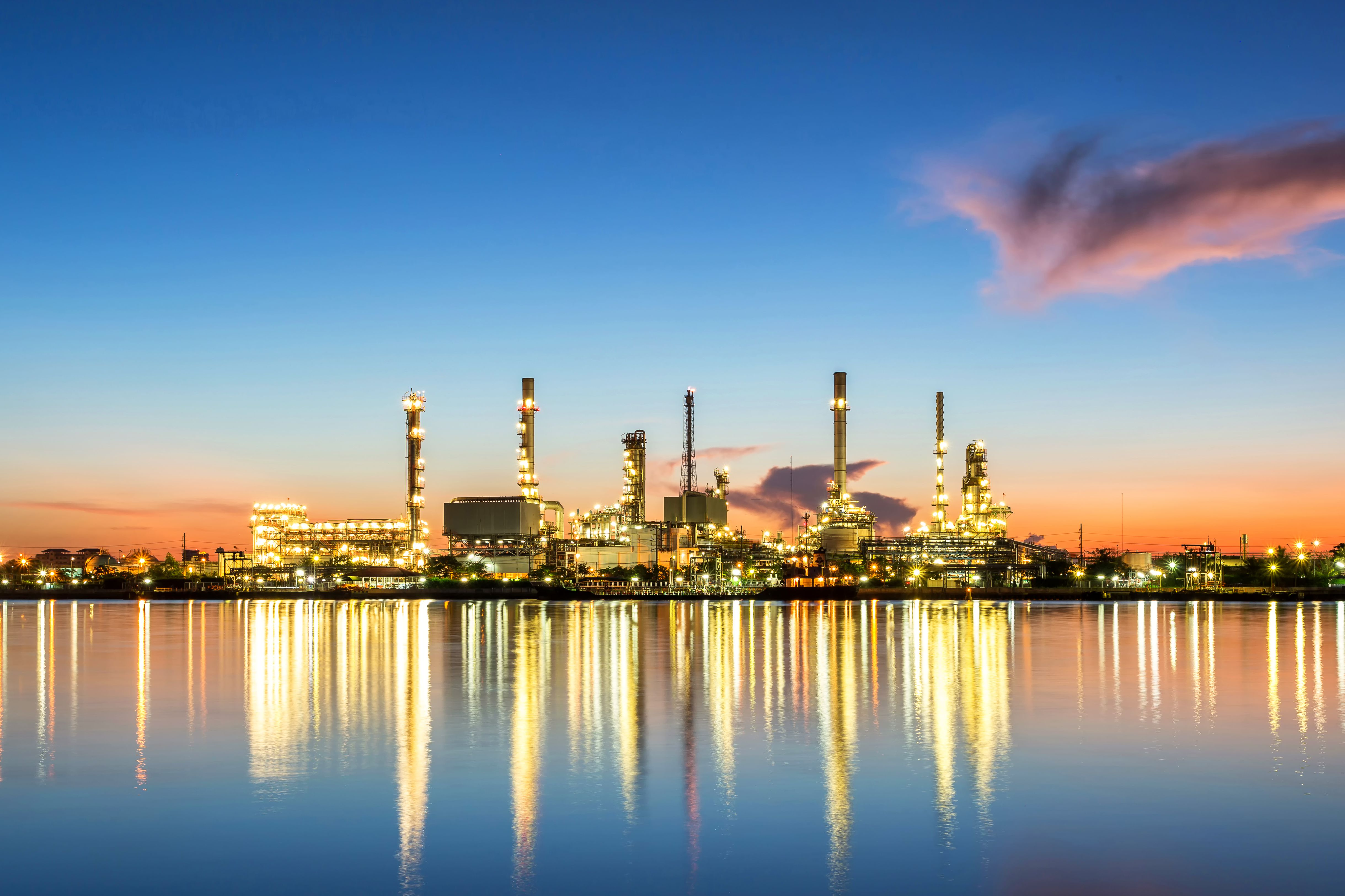 oil and gas industry   oil refinery and petrochemical plant at sunrise  831269902 098a78f713d045a7993640aa5dcb5e80.'