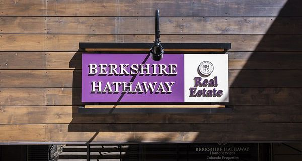 Berkshire Hathaway real estate sign in Vail, Colorado