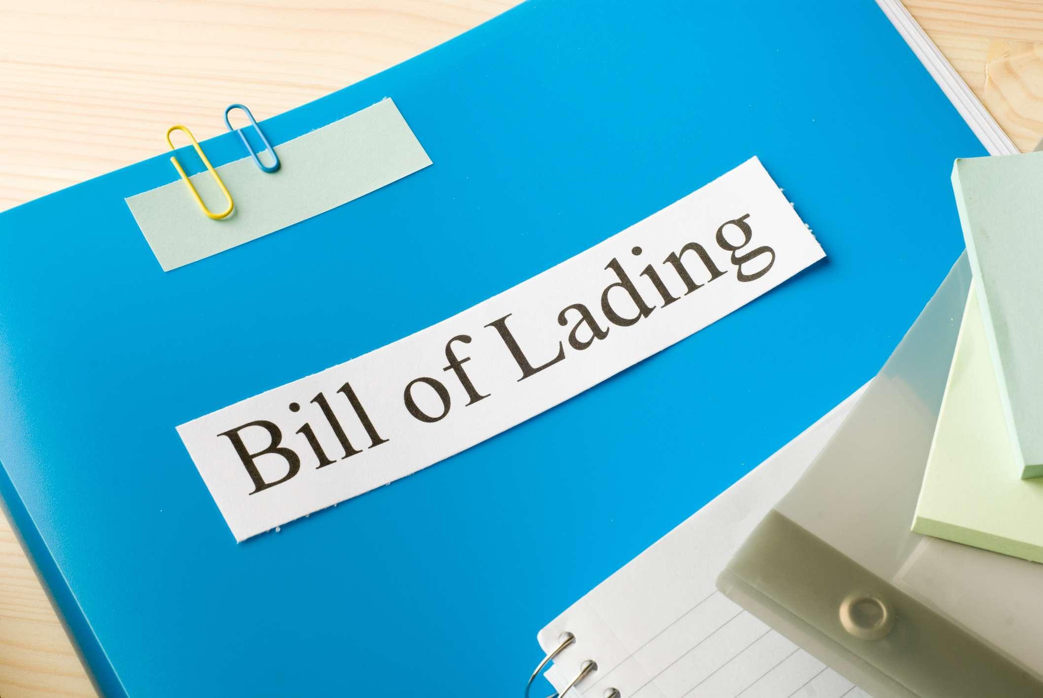 Bill Of Lading Definition