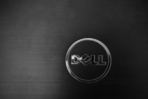 The Dell logo on a PC case