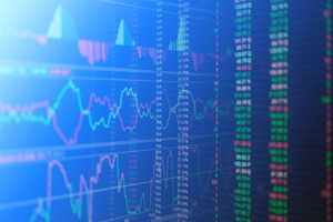 A full frame shot of stock market data.