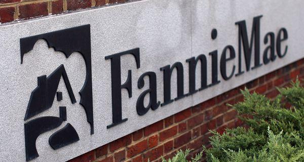 Fannie Mae sign on brick building.