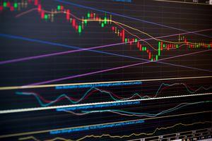 Stock chart price pattern rebound.