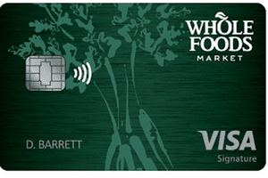 New Whole Foods design for the Amazon Prime Rewards Visa Signature Card from Chase.
