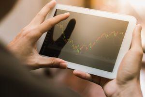 stock market information on tablet