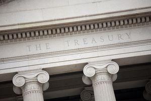 The US Treasury building in Washington DC