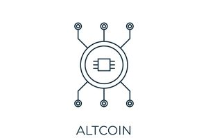 Altcoin Line icon. Simple element illustration