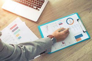 investor looking at portfolio information