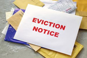 Eviction notice in the mail