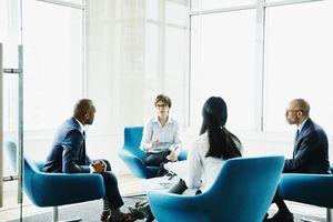 Business people having meeting.