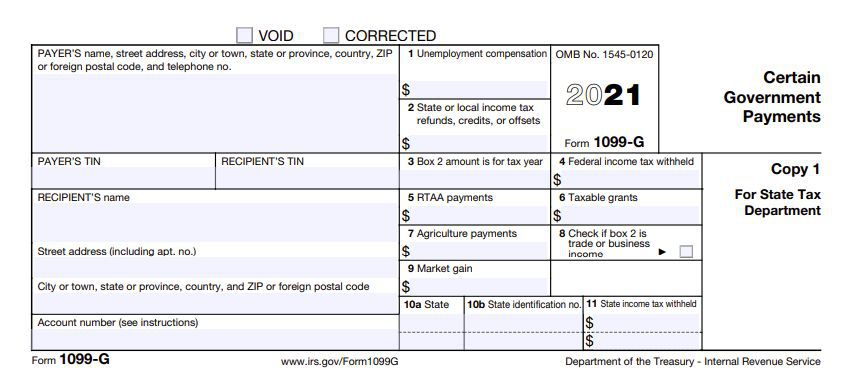 Form 1099-G: Certain Government Payments Definition