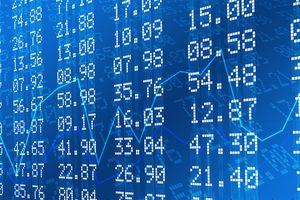 Stock Exchange Graph and Numbers