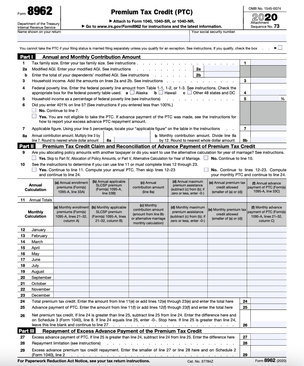 IRS Form 8962