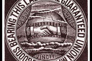 American Federation of Labor union label, circa 1900