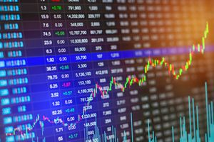 Financial Stock Market Graph Chart of Stock Market Investment Trading