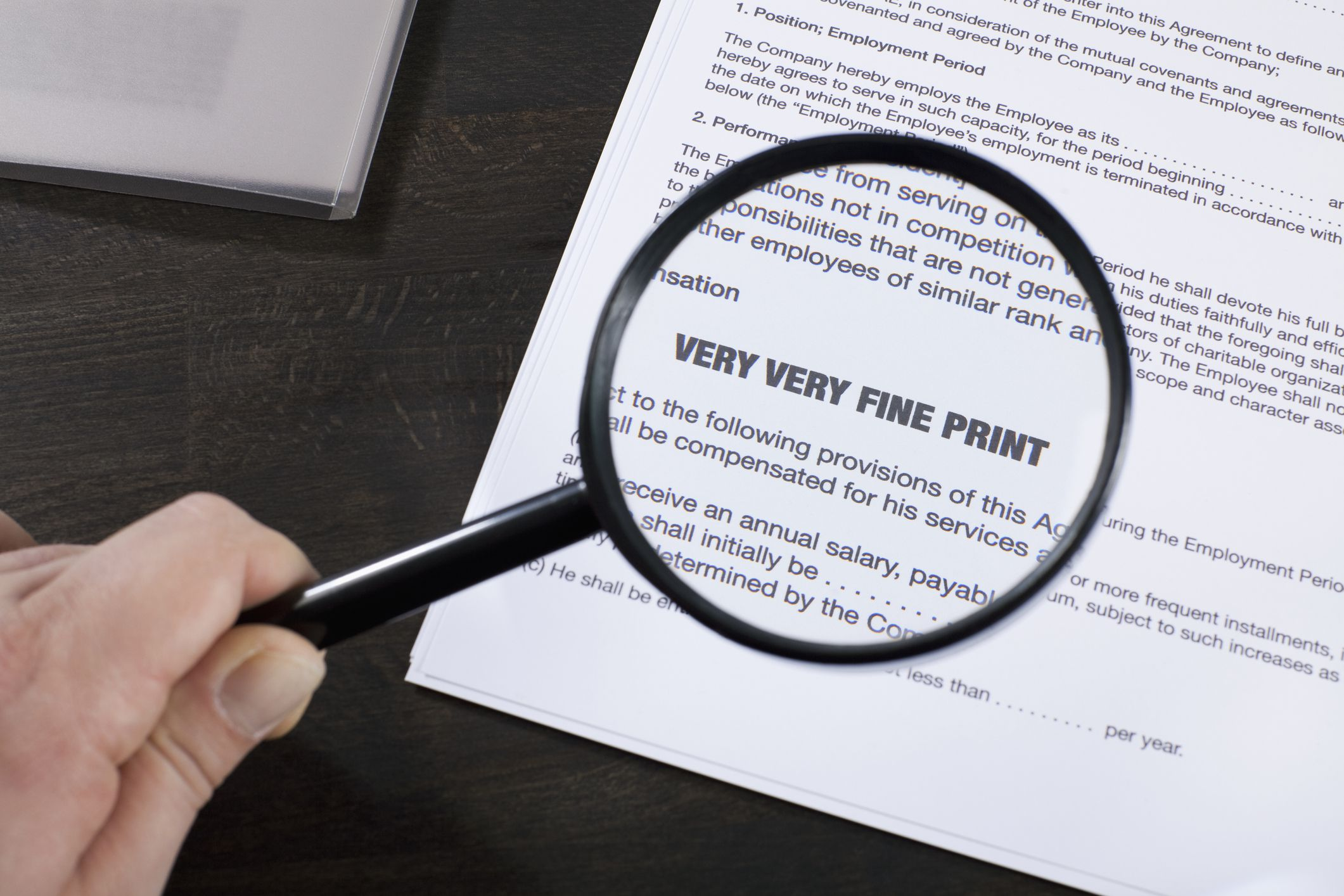 Fine Print Definition