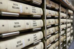 Shelves of deed records—Clay County Clerk's Office, Jacksonville, FL