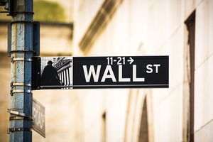 A Wall Street sign, New York City, USA.