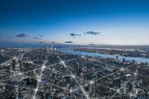 The network of a city in New York