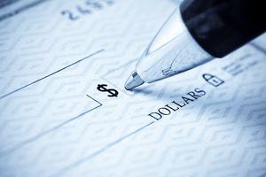 Pen and bank check
