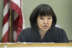 Image of Judge Eileen Kato, Seattle, Wash., in courtroom