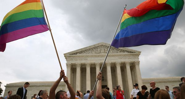 Rainbow Flags at Supreme Court