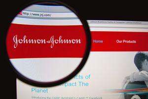 Image of Johnson & Johnson website