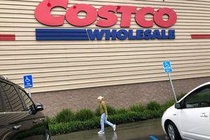 Customers enter at a Costco store on December 12, 2019 in Novato, California.