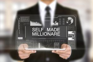Self Made Millionaire, Hologram Futuristic Interface, Augmented Virtual Reality