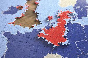 United Kingdom and European Union Jigsaw Puzzle, Illustration