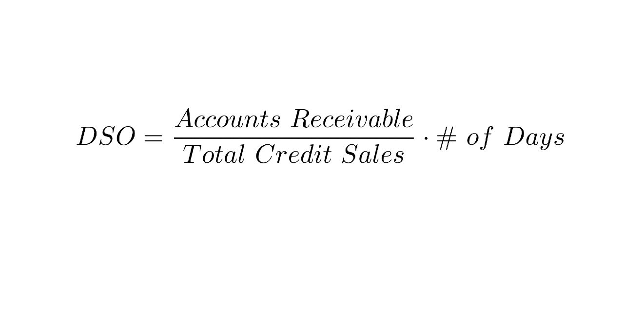 DSO = (Accounts Receivable/Total Credit sales) x #days