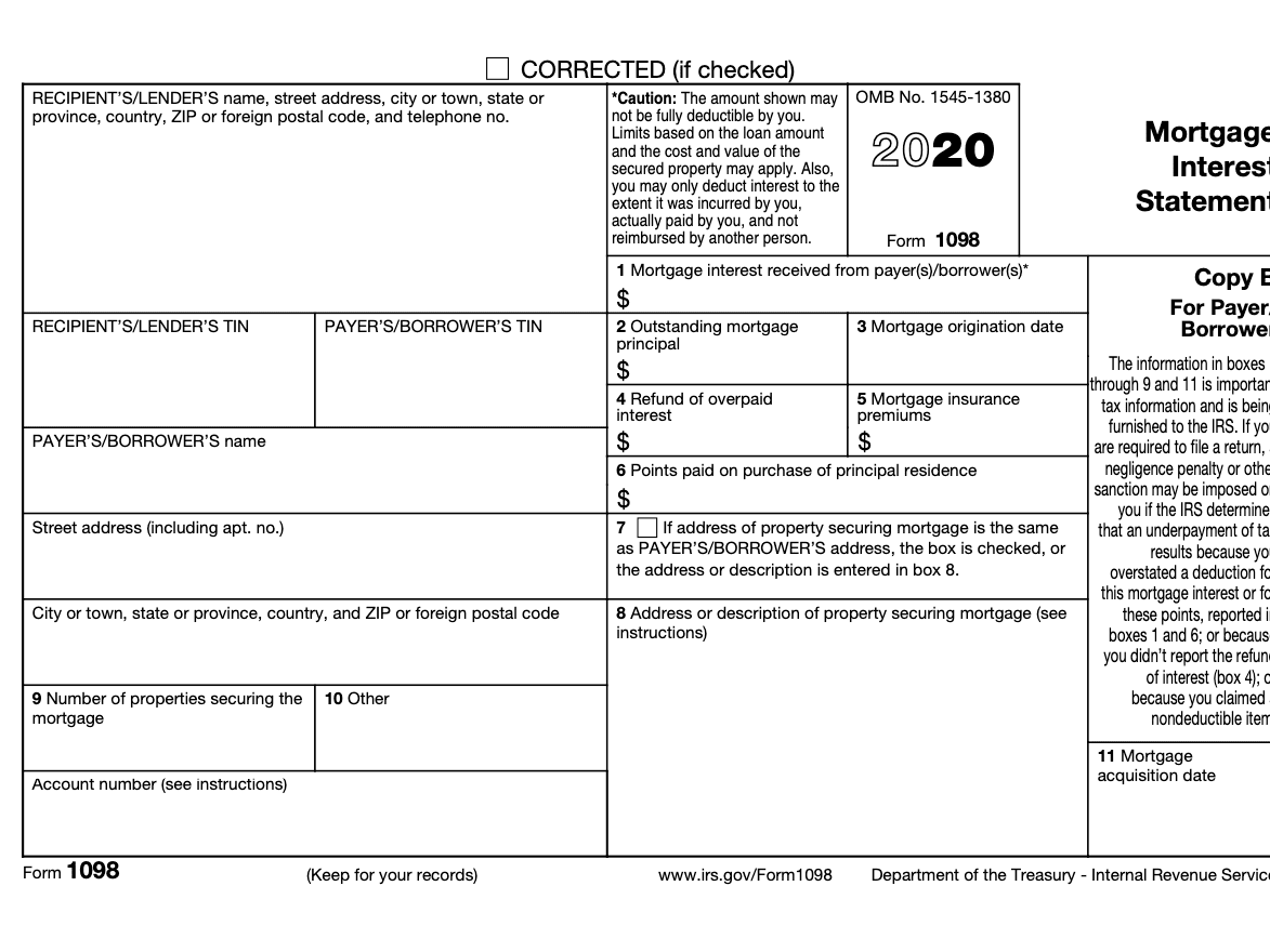Form 1098 Definition