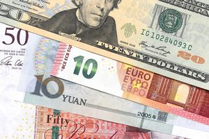 Banknotes from the U.S., the U.K., China, and Europe