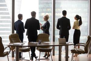 Multiracial Workers Colleagues Talk at Break